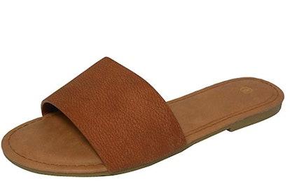 Cambridge Select Slip-On Flat Slipper Sandal