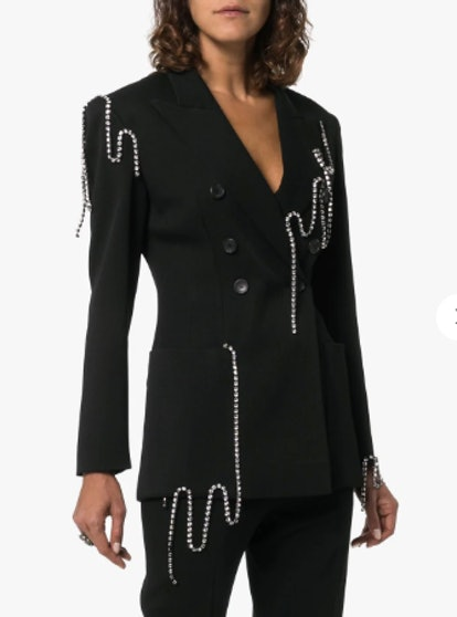 Crystal-Chain Tailored Jacket
