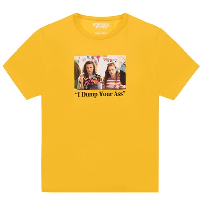 Yellow Stranger Things 3 Eleven and Max T-shirt
