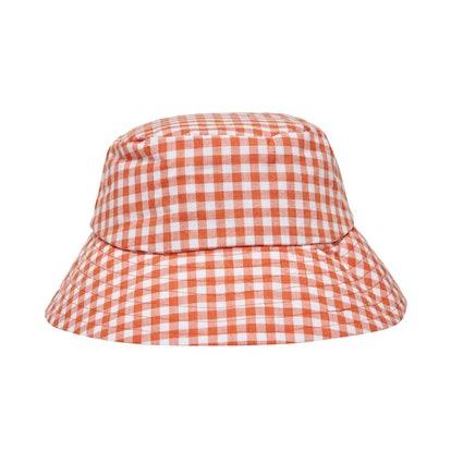 Papaya Gingham Bucket Hat