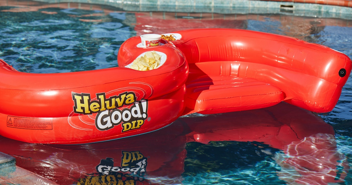 Heluva Good!'s Pool Float Has Snack Holders For Two People — Here's How To Get One