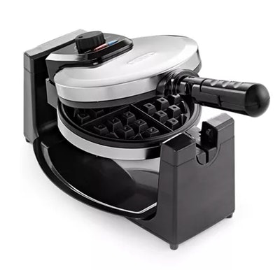 Bella Polished Stainless Steel Rotary Waffle Maker