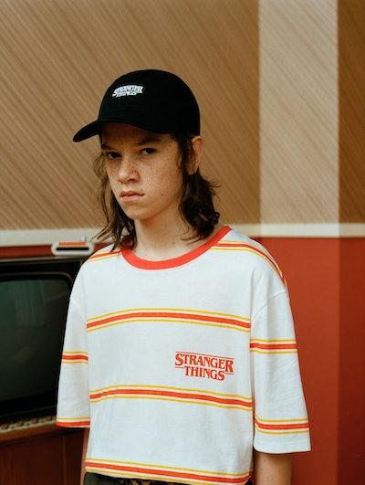Stranger Things 3 striped T-shirt