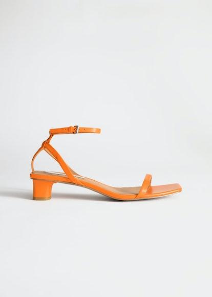 Square Toe Kitten Heel Sandals