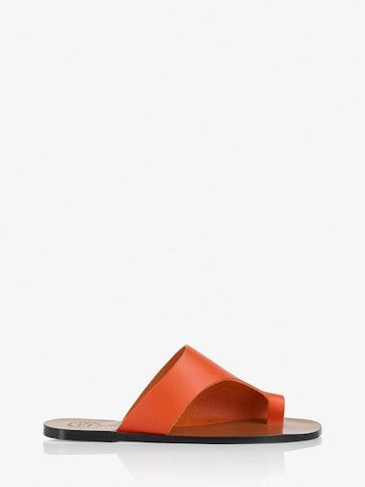 Rosa Orange Cutout Sandals
