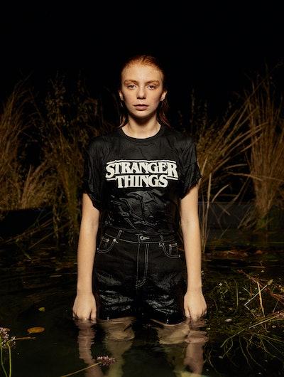 Black Stranger Things 3 Logo T shirt