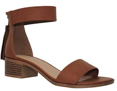 MVE  Peep Toe Chunky Heel Sandal