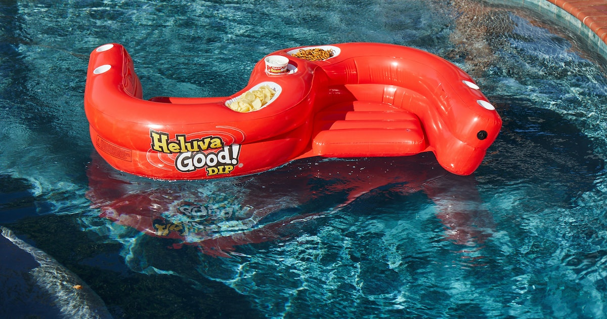 This SS Snacker Pool Float From Heluva Good! Dip Is Perfect For Your Summer Snacking