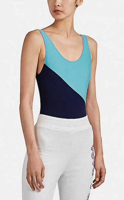 Colorblocked Scoopback Bodysuit