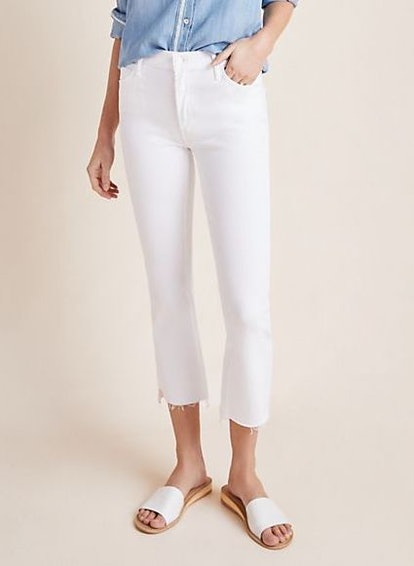 The Insider High-Rise Crop Step Fray Jeans