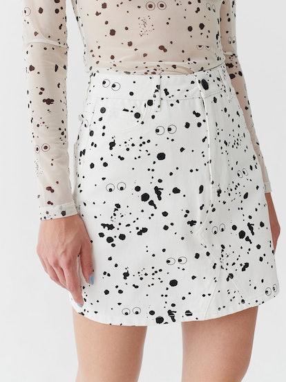 Mini Splatter Print Skirt