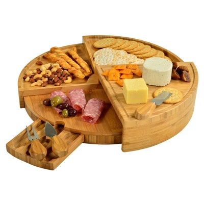 Picnic at Ascot Patented Bamboo Cheese/Charcuterie Board