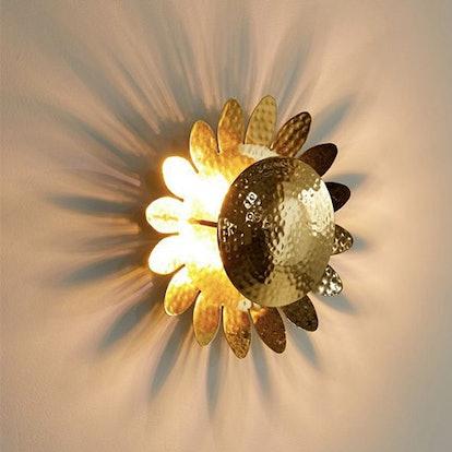 Metal Sunflower Sconce