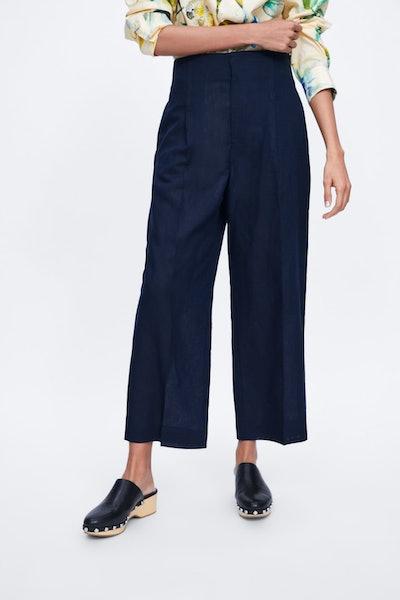 Wide Leg Pleated Pants