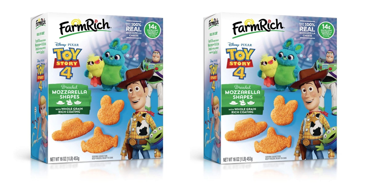 Disney & Pixar's 'Toy Story 4' Mozzarella Shapes By Farm Rich Are Almost Too Cute To Eat