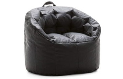 Big Joe Lux Siena Montana Leather Black Bean Bag