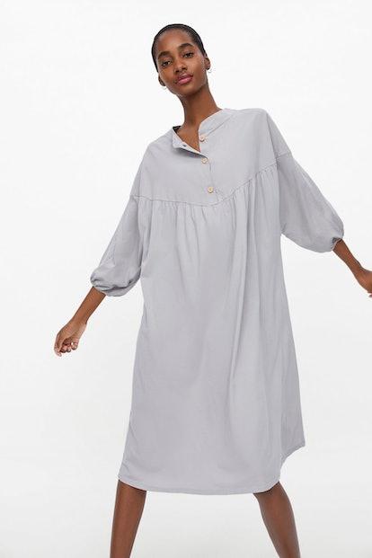 Buttoned Oversized Shirt Dress