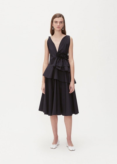 Sleeveless Asymmetric Gather Dress