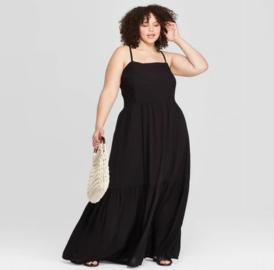Square Neck Tiered Maxi Dress