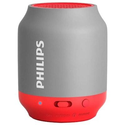 Philips Bluetooth Speaker - Grey & Red