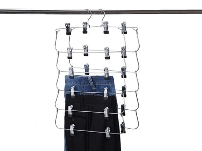 Quality Hangers 6-Tier Skirt And Pants Hanger