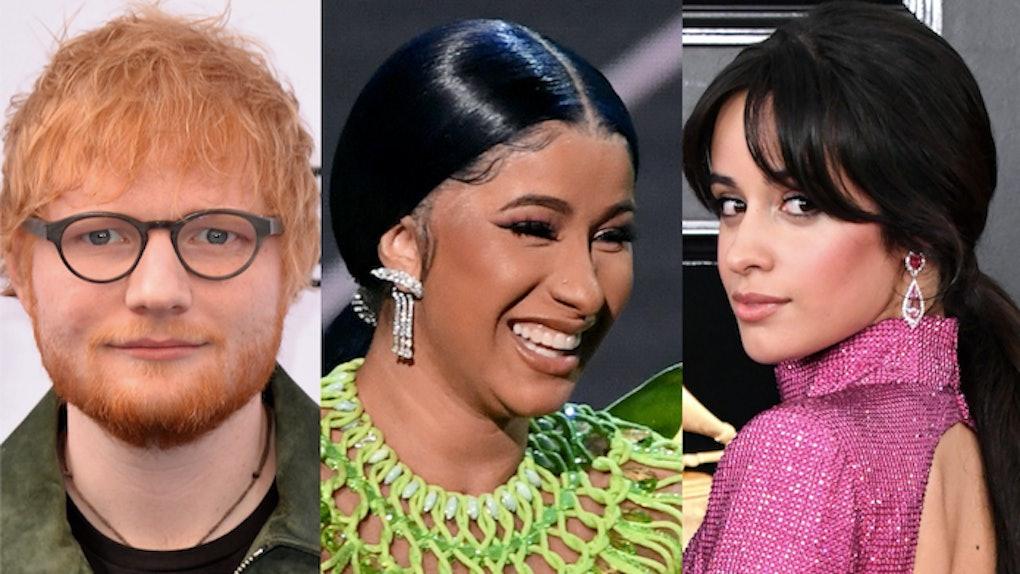 Ed Sheeran, Camila Cabello, & Cardi B's