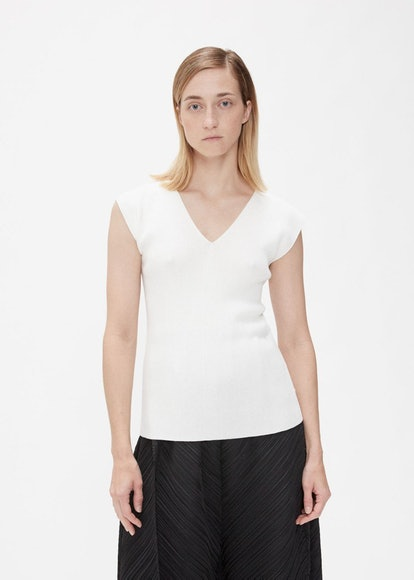 Sleeveless Flat Rib Knit