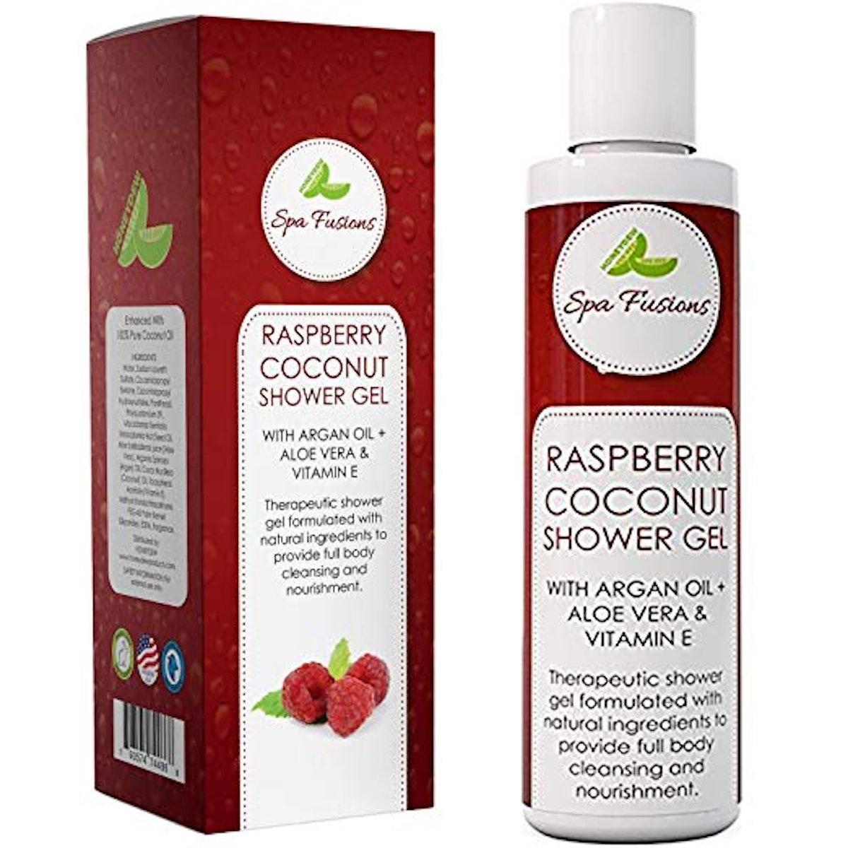 Spa Fusions Raspberry Coconut Shower Gel Oil