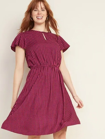 Flutter-Sleeve Dress
