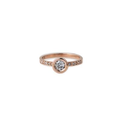 Pave Round Diamond Ring