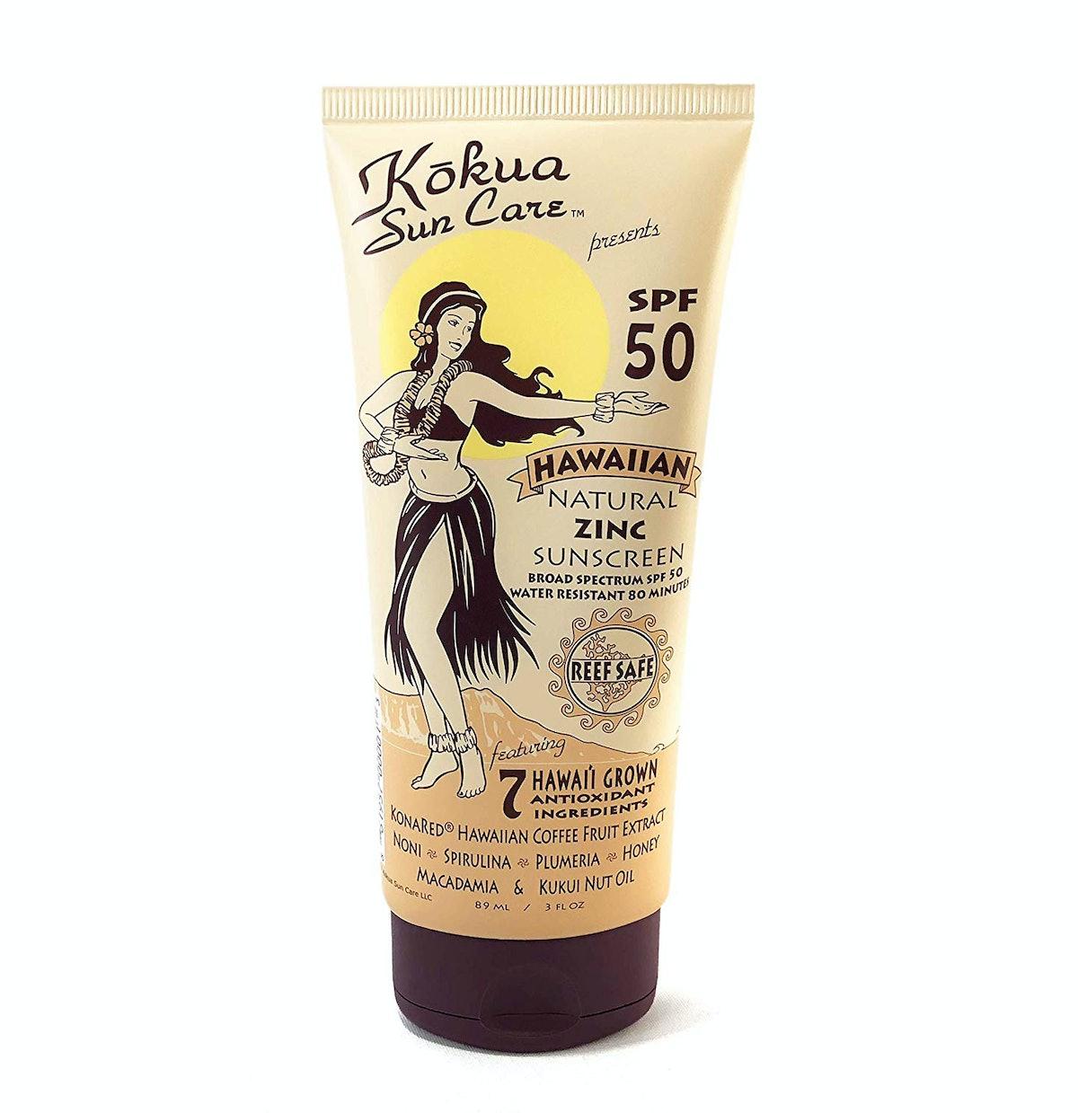 Kōkua Sun Care Hawaiian Natural Zinc Sunscreen SPF 50
