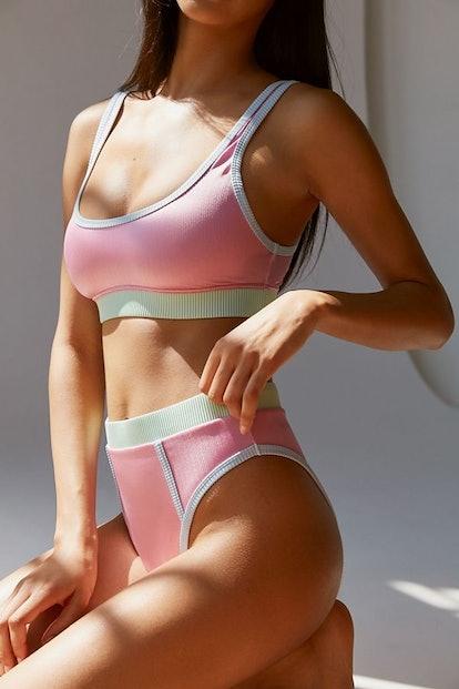 Westport Sporty Scoop Neck Bikini Top & High-Waisted Bikini Bottom