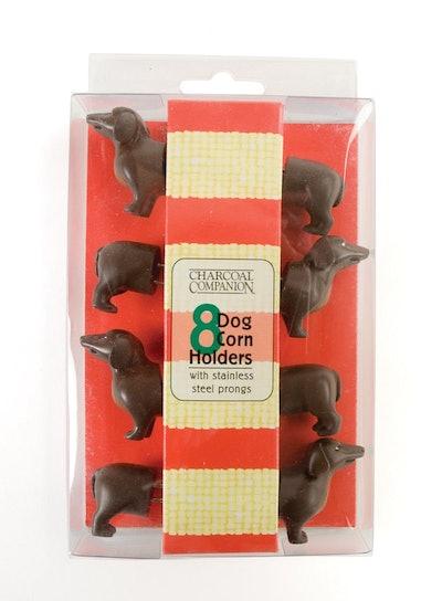 Charcoal Companion Dog Corn Holders (8 Pieces)