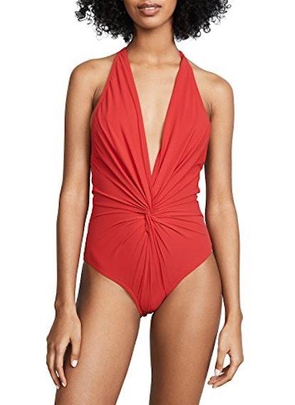 Low Back Plunge Swimsuit