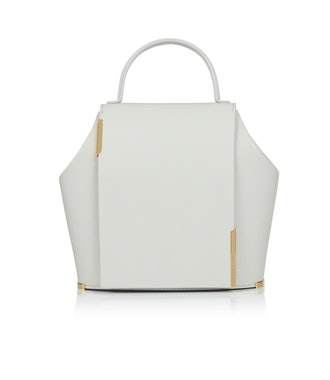 Gaia Small Leather Bag in Gray