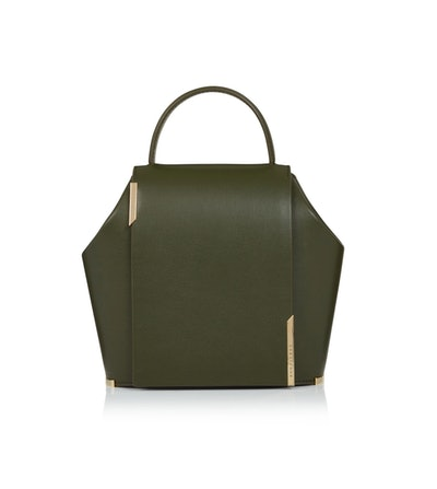 Gaia Small Leather Bag In Green