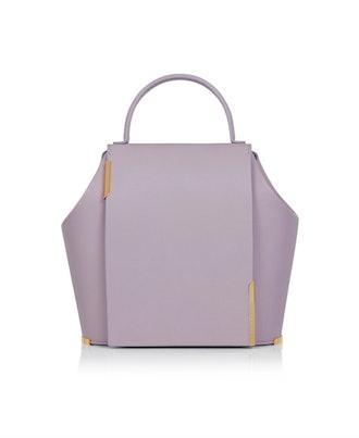 Gaia Small Leather Bag in Purple