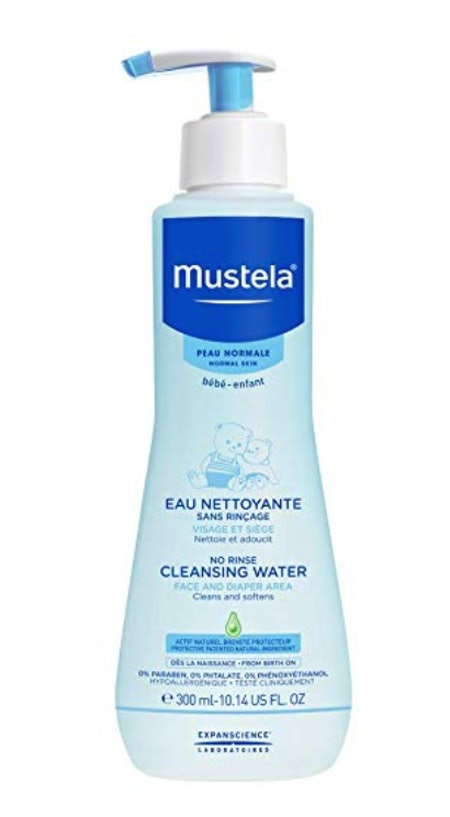Mustela No Rinse Cleansing Water for Baby, 10 Oz.