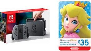 Nintendo Switch - Gray Joy-Con + $35 Nintendo eShop Gift Card