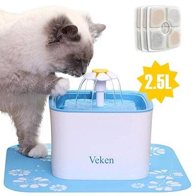 Veken Pet Fountain Automatic Water Fountain Dispenser
