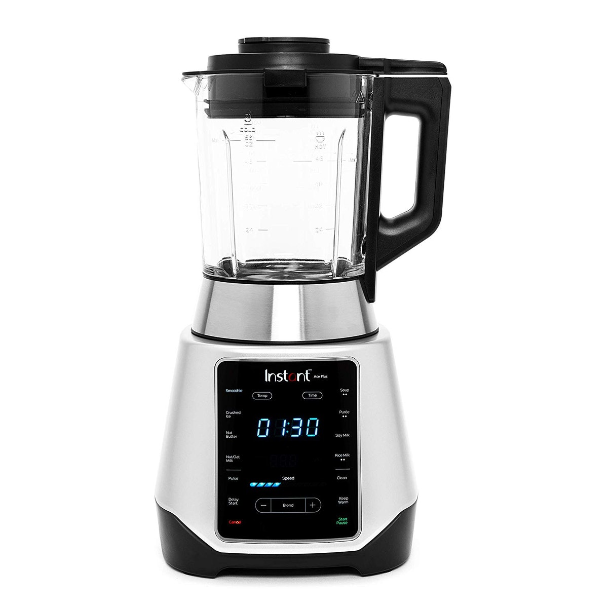 Instant Ace Plus Cooking & Beverage Blender includes Professional Quality Glass Pitcher with Conceal...