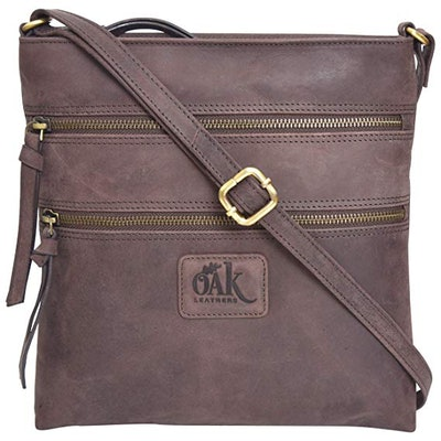 Oak Leather Crossbody Purse