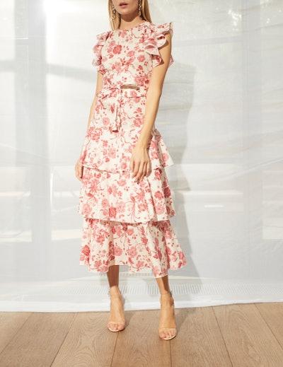 Ruflette Sleeveless Midi Dress