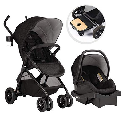 Evenflo Sibby Travel System: Stroller, Carseat, and Ride-Along Board