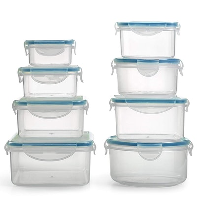 BPA Free Plastic Food Container Set with Locking Lids