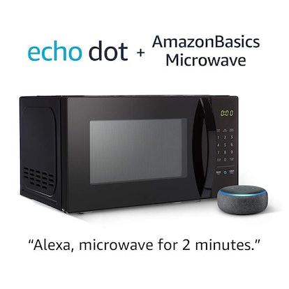 AmazonBasics Microwave with Echo Dot (3rd Gen.)