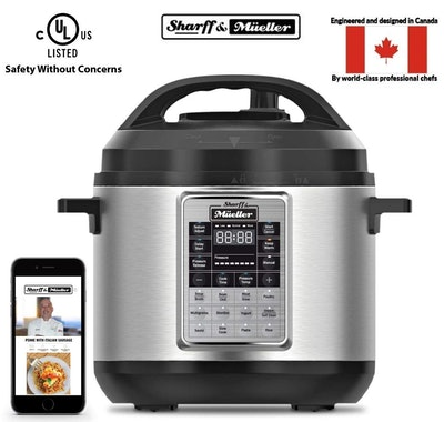 Electric Pressure Cooker 6 Quart Stainless Steel, 12-in-1 Programmable Multipot