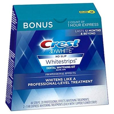 3D White Professional Effects Whitestrips Whitening Strips Kit, 22 Treatments, 20 Professional Effects + 2 1 Hour Express Whitestrips