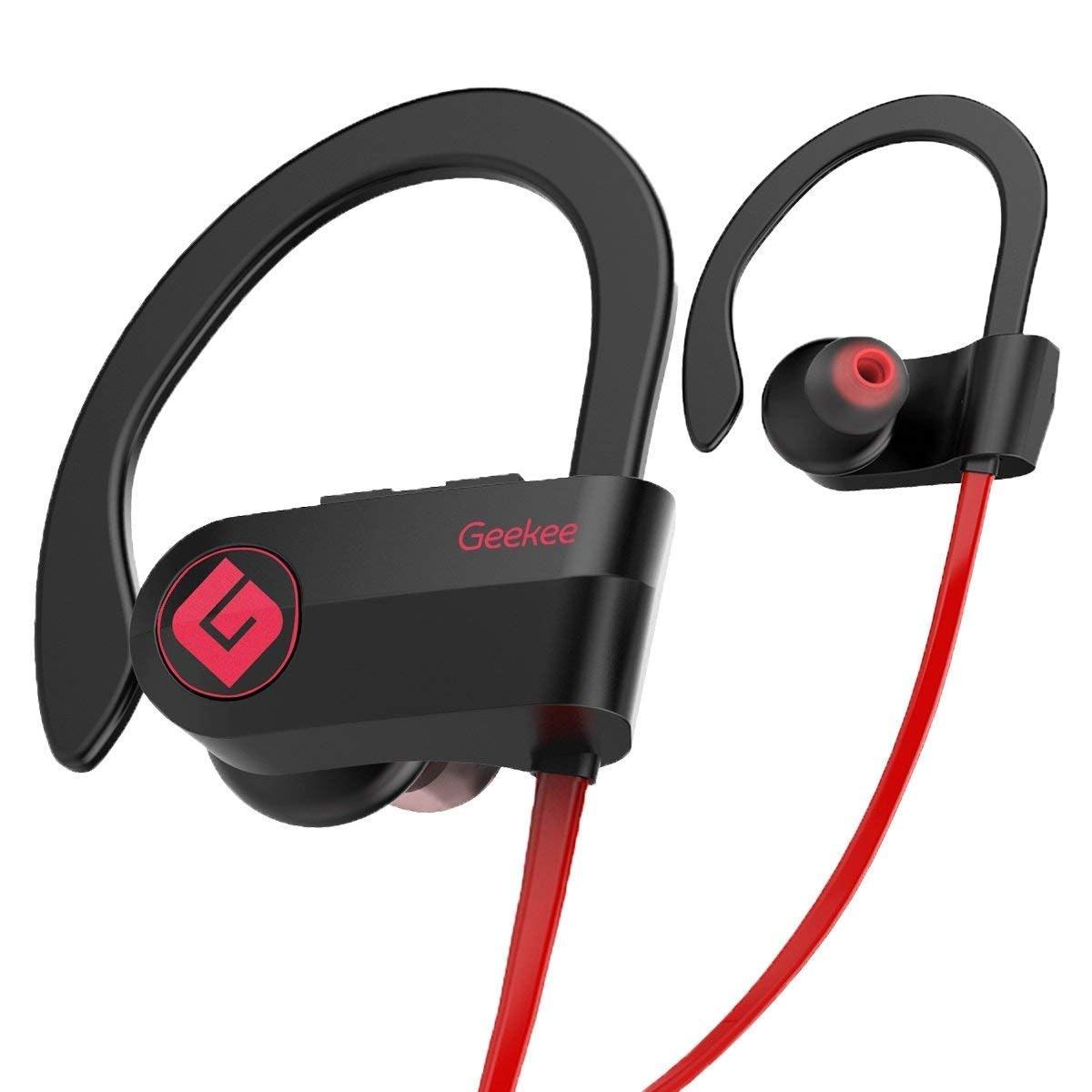 Geekee Wireless Bluetooth Headphones Waterproof IPX7, Best Sport in Ear Earbuds Earphones w/Remote a...