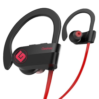 Geekee Wireless Bluetooth Headphones Waterproof IPX7, Best Sport in Ear Earbuds Earphones w/Remote and Mic HiFi Stereo
